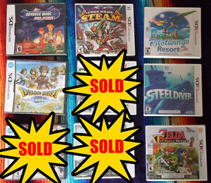 Selling Various DS and 3DS Games