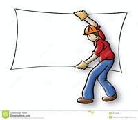 Drywall/Crackfilling/Plastering
