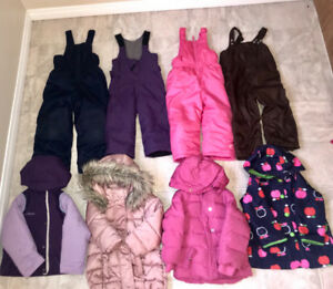 Girl winter clothes size 3-4 all together for $35