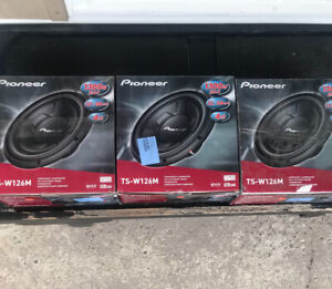 """3 brand new 12"""" pioneer subwoofers"""