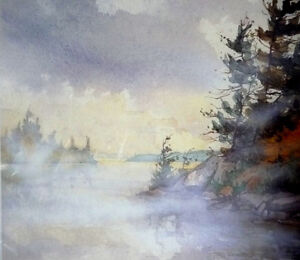 "Northern Landscape by Edwin Matthews ""Misty Bay"" L/E Stratford Kitchener Area image 3"