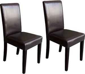 BNIB!! Brand New, Unused, Dining Leather parson's chair $65/Chai