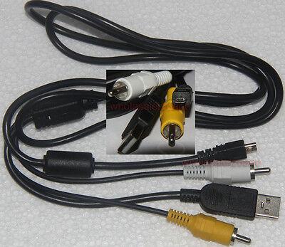 USB+AV Cable for Sony CyberShot DSC-W180 DSC-W190 DSC-S800 DSC-S700
