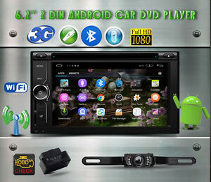 "6.2"" Android 5.1 Car Audio GPS Wifi Bluetooth Camera OBD2 scaner"