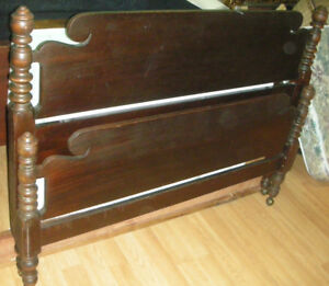 Antique walnut four poster bed