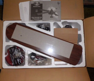 Brand New 5 Blades AccuBreeze Plus Ceiling Fan & Lamps Assembly