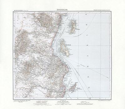 Deutsch Ostafrika - Daressalam Tansania Sansibar Zanzibar Kolonialatlas 18