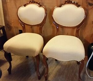 A pair of beautiful finished estate chairs