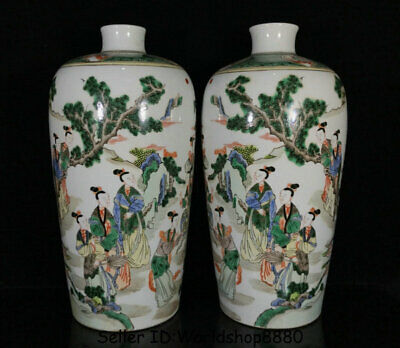 Republic Chinese Famille Verte Wucai \u5eb7\u7199\u4e94\u5f69 Hand Painted Enamel Polychrome Porcelain Bowl Jardiniere