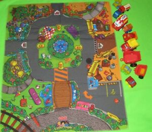 Fisher Price playmat and 10 cars