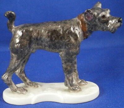 Nymphenburg Porcelain Schnauzer Dog Figurine Figure Porzellan Figur Hund German - $199.00