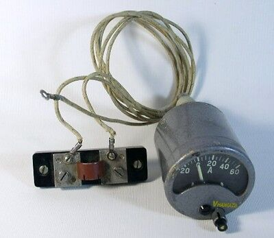 Russian Analog Dc 20 - 0 - 60 A Amper Meter 0 - 30 V Volt Meter. Ussr