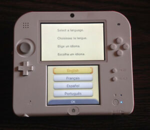 Nintendo 2ds + 16gb SD Card (NO CHARGER)