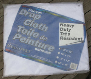 NEW - Drop cloth - canvas 5' x 12'
