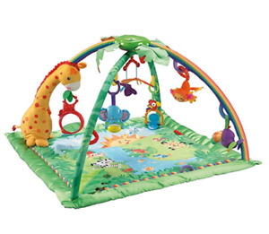 Fisher-Price Rainforest Melodies and Lights Deluxe Baby Play Gym