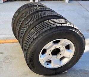4 Michelin LTX245-75-17 on Ford SuperDuty alloy rims  (Kelowna)