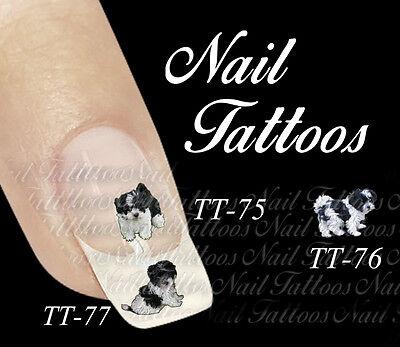nka Schwarz Weiss Welpe Hund Tiere Motiv Auswahl TT-74 (Welpen Tattoos)