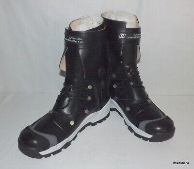Xander Zhou Supernatural Extraterrestrial Black Lace-Up Boots Men's sz 44 (11.5)