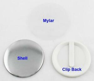 ClipButton Parts and Clip with Magnet 100 Sets/Pack For Button maker 015702