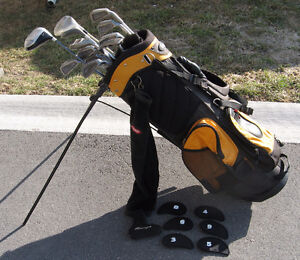 Golf Clubs + Golf Bag