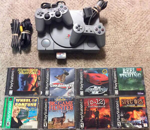 Playstation 1 with 2 Controllers and 7 Games!!