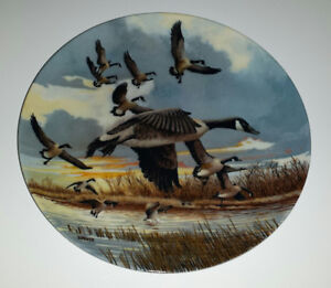 """Collector Plate - 1986 - """"The Landing"""" by Donald Pentz"""