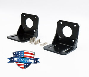 2pcs Nema 17 42mm Stepper Motor Mount Steel Alloy Mounting Bracket with Screws