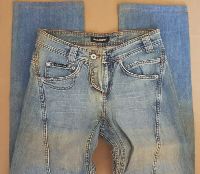 Vintage D&G Apparels, W31 Straight Cut, Retro Dolce & Gabbana Designer Denim Jeans, Made in ITALY