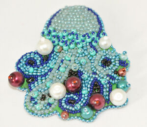 Bead Crocheted and embroidered handmade jewellery