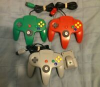 Nintendo 64 N64 Controllers and a Rumble Pak (All Official)