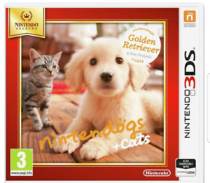 Nintendo 3ds dogs and cats golden retreiver
