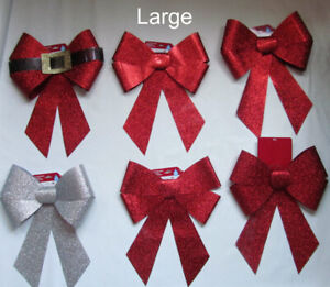 Extra large glitter bows, LOT of 11 bows, NEW, water resistant
