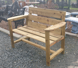 Heavy duty wooden garden benches planters bird tables wishing well