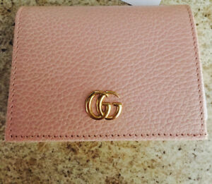 Authentic Gucci leather card case.