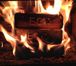 Why Firewood?!  Try our clean burning fuel bricks in your stove!