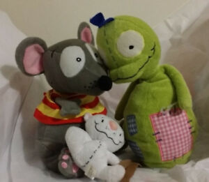 ▀▄▀Toopy and Binoo PATCHY PAT Stuffed Plush Doll Toys set