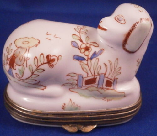 Antique 19tC French Porcelain Figural Snuff Pill Patch Box France Porzellan Dose