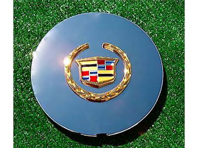 4 NEW OEM Logo Chrome Gold REAL CADILLAC DTS Deville Eldorado Wheel CENTER CAPS