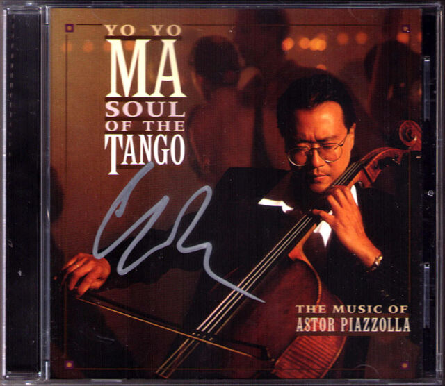 YO-YO MA Signed PIAZZOLLA Soul of the Tango CALANDRELLI Remembrances Libertango