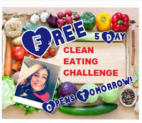 FREE 5 Day Clean Eating Shred Group Challenge.