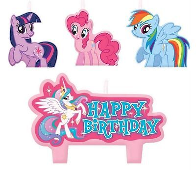 New My Little Pony Candles Set (4ct)  Birthday Party Favor Supplies - Pony Candles