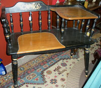 Hitchcock Telephone Table and Bench - Vintage