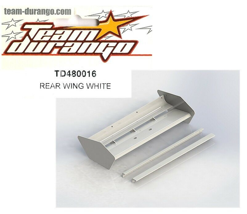 Team Durango TD480016 Rear Wing White