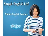 ENGLISH LESSONS BY SKYPE - FROM £14 (FIRST 15 MINS FREE) QUALIFIED NATIVE TEACHER