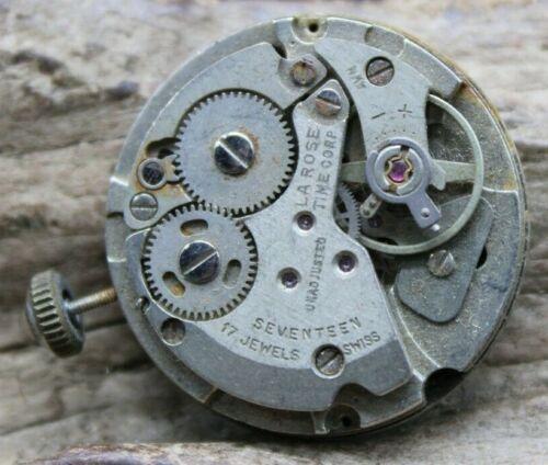 Vintage Lourin Perrard Mechanical Wristwatch Movement 26.5mm 17j (J2Q)