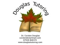 Douglas Tutoring, science tuition from Dr. Corsten Douglas. Biology, chemistry, physics. Cambridge