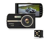 Car Dash Cam Front & Rear 4 Inch HD Screen - Night Vision - Wide Angle - G-Sensor - Loop Recording