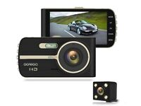 Car Dash Cam Front & Rear 4 Inch HD Screen - Night Vision - Wide Angle - G-Sensor - Loop Recording