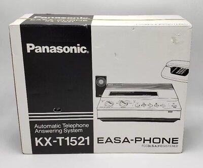 Panasonic EASA-PHONE Dual Tape Answering Machine Model KX-T1521 - New Old Stock