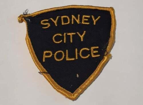 Sydney City Nova Scotia Canada Police Patch Vintage